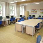 Učebna výpočetní techniky v budově II. stupně ZŠ