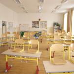 Učebny v budově I. stupně ZŠ