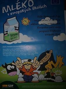 Mléko do škol - plakát